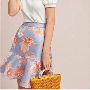 NWT Anthro Hutch Romantic Mini Skirt Ruffle 4